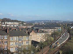 View from Pollokshaws East Station overlooking the north of the constituency