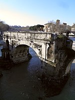 File:Pons Aemilius, the oldest Roman bridge in Rome, Field of Mars (Campus Martius) (9099080675).jpg