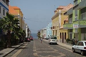 Ponta do Sol, Cape Verde - Center of Ponta do Sol with its decorated street