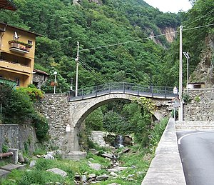 Cedegolo - Bridge on stream Poia