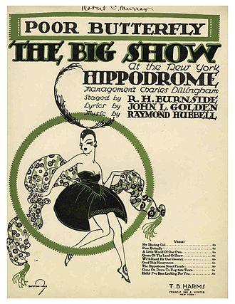 John Raymond Hubbell - Sheet Music for Poor Butterfly, 1916