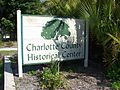 Port Charlotte FL Historical Center sign01.jpg