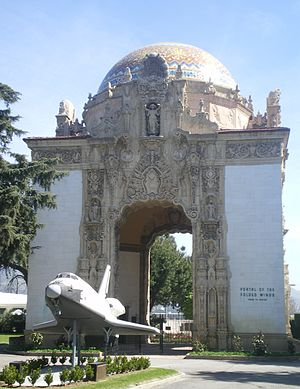 Valhalla Memorial Park Cemetery - Portal of the Folded Wings, Shrine to Aviation.