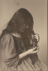 Portrait of Hawaiian girl, titled 'Girlhood' (profile) 1909.jpg