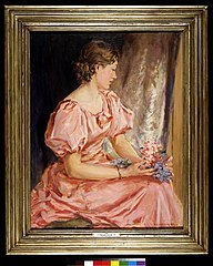 Portrait of Lorna, the girl in pink