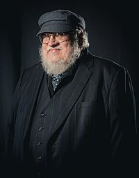 Portrait photoshoot at Worldcon 75, Helsinki, before the Hugo Awards – George R. R. Martin.jpg