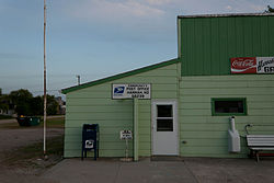 Post office in Hannah