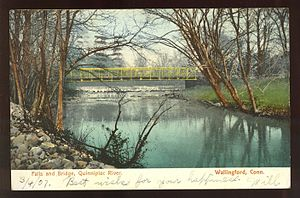 Quinnipiac River - Bridge in Wallingford, 1907