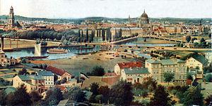 Berlin–Magdeburg railway - The Havel bridge in Potsdam in 1871