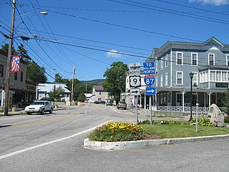 Chester, Warren County, New York - Center of Pottersville, town's second largest community
