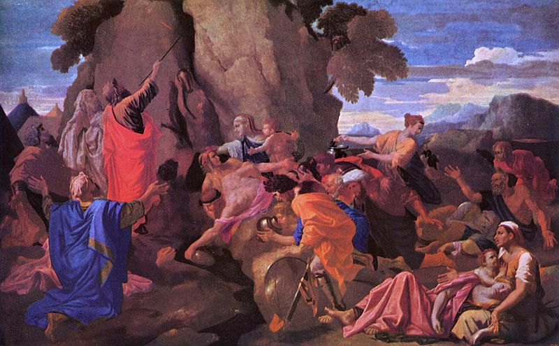 File:Poussin, Nicolas - Moses Striking Water from the Rock - 1649.jpg