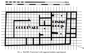 Praetorium - Floor plan detailing as praetorium