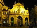 Prag - Kirche des Heiligsten Erlösers bei Nacht - Kostel Nejsvětější Vykupitele v noci - panoramio.jpg