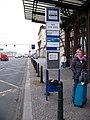 Praha hlavní nádraží, autobusová zastávka směr Norimberk.jpg