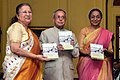 Pranab Mukherjee receiving the first copy of the book 'Indian Parliamentary Diplomacy - Speaker's Perspective' of the former Speaker, Lok Sabha, Smt. Meira Kumar, at Rashtrapati Bhavan, in New Delhi. The Speaker, Lok Sabha.jpg