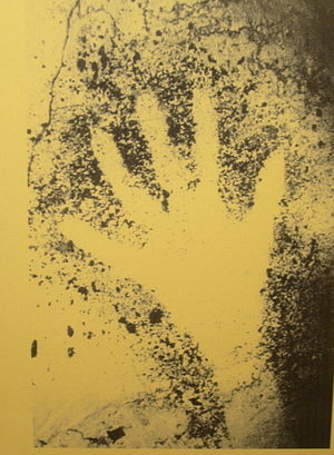 Cosquer Cave - Stencil of human hand, Cosquer Cave, 27,000 years B.P.
