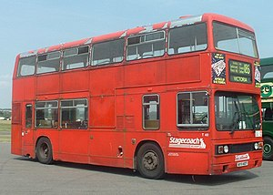 Selkent - Leyland Titan in North Weald, June 2003, in Stagecoach Selkent all-red livery