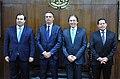 Presidente bolsonaro, vice mourão, e presidentes do legislativo, eunicio e maia.jpg