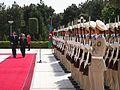 Prezydent Lech Kaczyński w towarzystwie Prezydenta Alijewa dokonał przeglądu Kompanii Reprezentacyjnej.jpg
