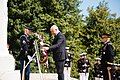 Prime Minister of the Republic of Albania lays a wreath at the Tomb of the Unknown Soldier in Arlington National Cemetery (26139756210).jpg
