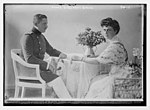 Prince Eitel Fritz and wife, seated at table LCCN2014683376.jpg