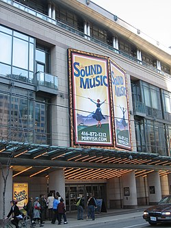 The Princess of Wales Theatre, one of a number of venues in the Entertainment District
