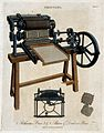 Printing; a three-quarter view of a Bacon & Donkins press, w Wellcome V0023779EL.jpg