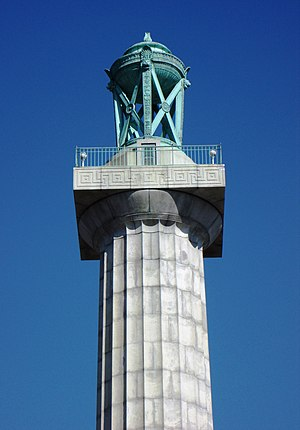 Prison Ship Martyrs' Monument - Adolf Weinman's brazier at the top