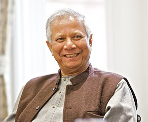 Muhammad Yunus - Yunus at a University of Salford event (May 2013)