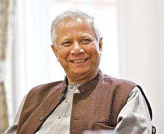 Muhammad Yunus - Yunus at a University of Salford event (May 2013)