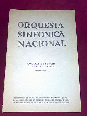 Argentine National Symphony Orchestra - A playbill from 1966