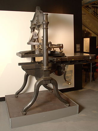 Letterpress printing - Proof press, 1850