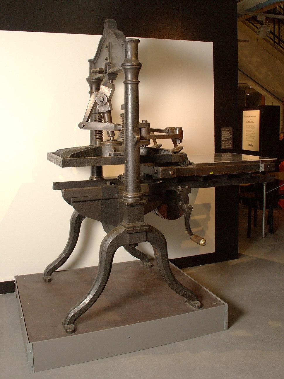 Proof Press in Rupriikki Media Museum