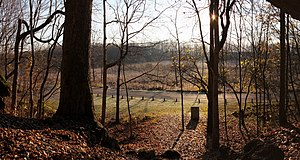 Tippecanoe Township, Tippecanoe County, Indiana - The view from Prophet's Rock near Battle Ground