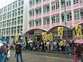 Protest of the Siu Yau-wai Incident in front of Tai Shing Primary School.jpg