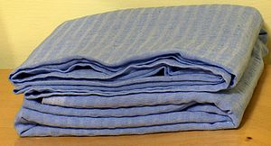 Bed sheet - A blue bed sheet