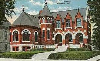 Auburn, Maine - Auburn Public Library c. 1910