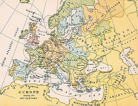 Europa Nei Secoli Xiv E Xv Wikipedia