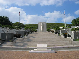 National Memorial Cemetery of the Pacific - The walls of the memorial are etched with names of those who were never recovered from battle.