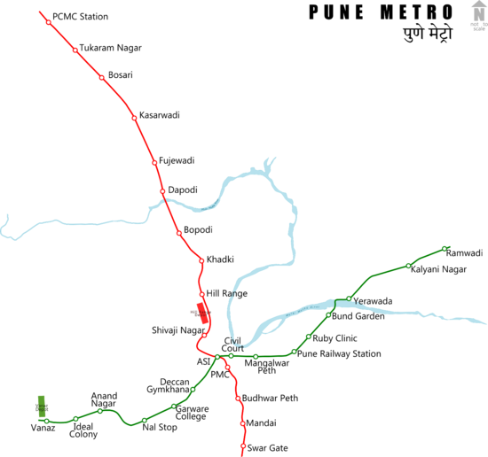 Pune Metro route map