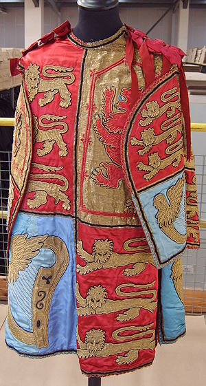 The tabard of an English pursuivant of arms