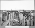 Queensland State Archives 3743 South approach reinforced concrete column construction Brisbane 1 September 1936.png