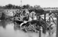 Queensland State Archives 6405 Alligator Creek Bridge Flood Damage 15 February 1956.png