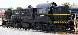 ALCO RSD-1 - Former US Army ALCO RSD-1, now owned by the Tennessee Valley Railroad Museum. Donated from the Eglin Air Force Base Railroad when that operation was abandoned.