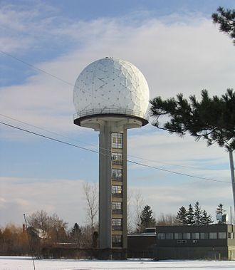 J. S. Marshall Radar Observatory - CWMN tower and radome