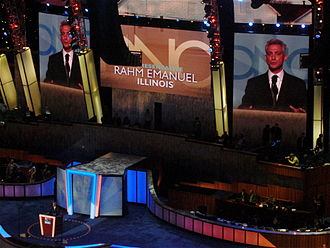 Rahm Emanuel - Emanuel speaks during the second day of the 2008 Democratic National Convention in Denver, Colorado.
