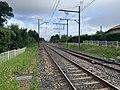 Rails Ligne Mâcon Ambérieu près Passage Niveau 4 St Jean Veyle 1.jpg
