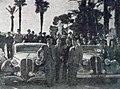 Rallye Monte-Carlo 1939, G. à D. Trévoux, Lesurque (Hotchkiss), Paul et Contet (Delahaye).jpg