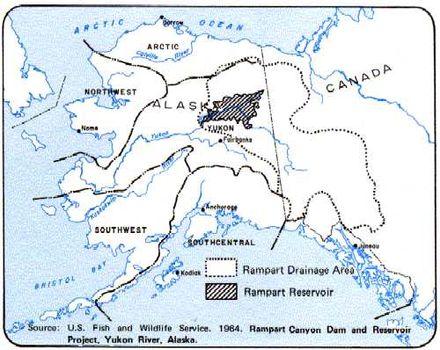 Rampart Dam Wikiwand - Yukon river on us map
