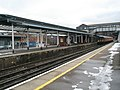 Rapidly melting snow on the middle platforms at Guildford Station - geograph.org.uk - 1161242.jpg